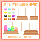 Build Your Own Place Value Abacus Numbers Clip Art Set Commercial Use