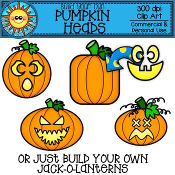 Build Your Own Pumpkin Heads Clip Art