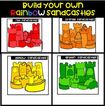 Build Your Own Rainbow Sandcastle  Bundle (Scribble Clips)