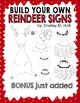 Build Your Own Reindeer Signs Clipart