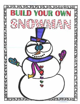 Build Your Own SNOWMAN- 55 Accessories!!