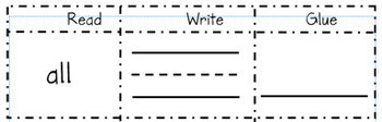 Stick with Your Sight Words: Build Your Own Sight Word Sheet