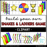 Snakes and Ladders Board Game Clip Art