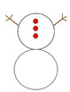 Build Your Own Snowman! A Printout Snowman Kit