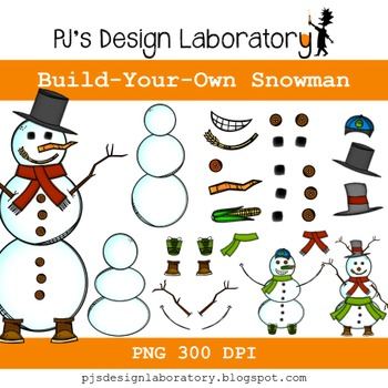 Build Your Own Snowman Freebie!