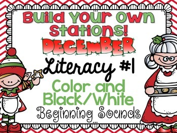 Build Your Own Stations {December} Literacy #1 {Beginning Sounds}