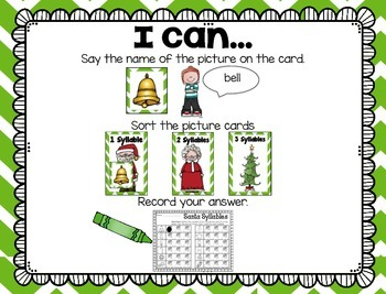 Build Your Own Stations {December} Literacy #3  {Syllables}
