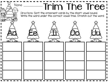 Build Your Own Stations {December} Literacy #5  {Short Vowel Sounds}