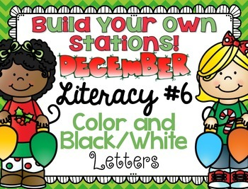 Build Your Own Stations {December} Literacy #6  {Letters}
