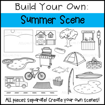 Summer Scene Clip Art