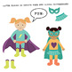 Build Your Own Superhero Girl Clip Art, superhero clip art