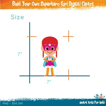 Build Your Own Superhero Girl Digital Clipart