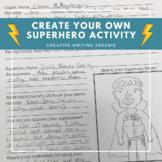Create Your Own Superhero Worksheet