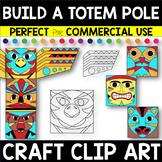 Build Your Own TOTEM POLE Craft Clip Art Set 1