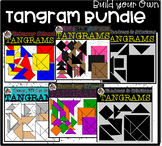Build Your Own Tangram Puzzle Bundle (scribble clips)