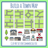 Build Your Own Town Map / DIY Geography / Mapping Clip Art