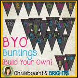 Build Your Own Welcome Bunting / Banner {Chalkboard, Whites & Brights}