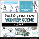 Build Your Own Winter Scene Clip Art