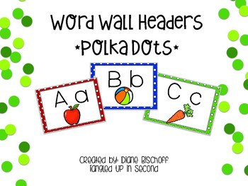 Dolch Word Wall: Color Dots