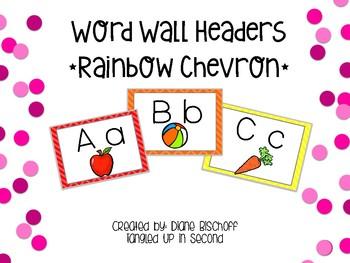 Dolch Word Wall: Rainbow Chevron