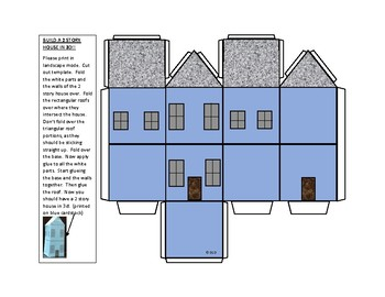 Build a 2 story house in 3D template