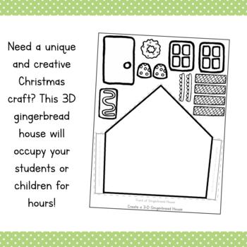 Build a 3D Gingerbread House