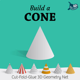 Build a 3D Cone – Foldable Geometry Solid Shape Net