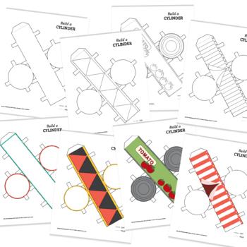 Build a 3D cylinder – foldable geometry shape net