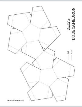 Build a 3D dodecahedron – foldable geometry shape net