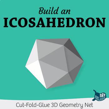 Build A 3D Icosahedron Foldable Geometry Shape Net