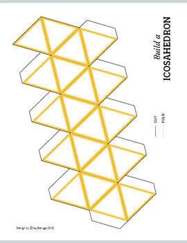 Build a 3D icosahedron – foldable geometry shape net