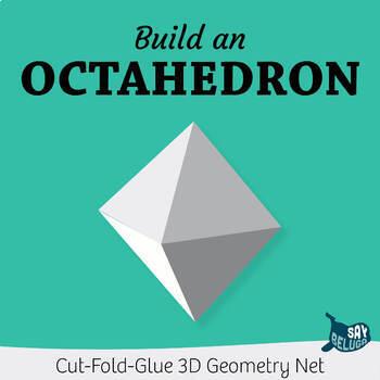 Build A 3D Octahedron Foldable Geometry Shape Net