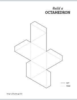 Build a 3D octahedron – foldable geometry shape net
