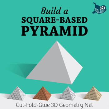 Build a 3D square-based pyramid – foldable geometry shape net