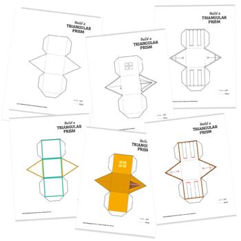 photo regarding Triangular Prism Net Printable called Acquire a 3D triangular prism foldable geometry form website