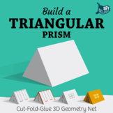 Build a 3D Triangular Prism – Foldable Geometry Solid Shape Net
