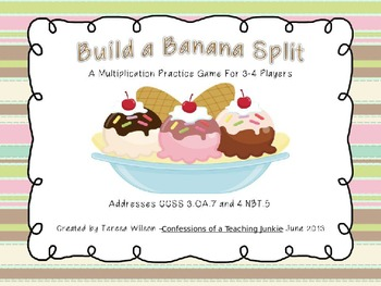 Build a Banana Split Multiplication Practice Game