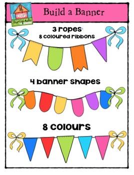Build a Banner {P4 Clips Trioriginals Digital Clip Art}
