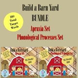 Build a Barn Yard BUNDLE: Apraxia and Phonological Processes Sets