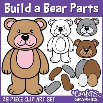 Build a Bear Parts Clip Art Set
