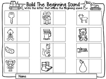 Build a Beginning Sound Set One, Construction Theme
