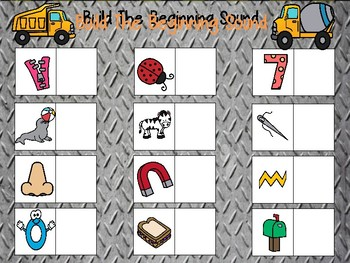 Build a Beginning Sound Set Two, Construction Theme