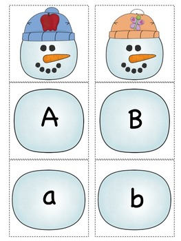 Build a Beginning Sound Snowman (Color and Black & White)
