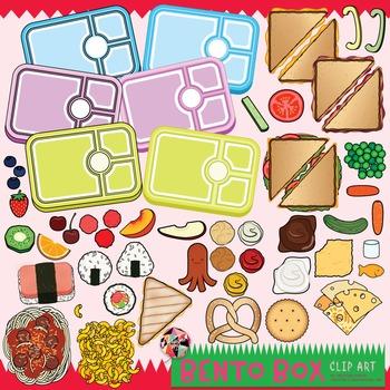 Build a Bento Box Clip Art / Food Clip Art