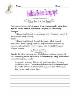 Build a Better Paragraph
