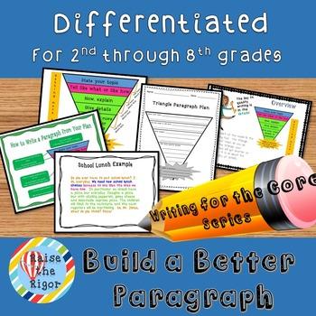 Paragraph Writing: Differentiation Bundle (Grade 2-8)