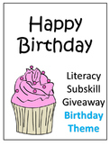 Build a Better Reader! Birthday Theme (Mini Giveaway)