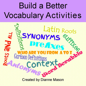 Build a Better Vocabulary Activities
