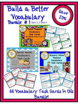 Context Clues Task Cards - Build a Better Vocabulary- Bundle One