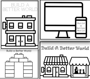 Build a Better World Bookmarks, Coloring Pages, and Banners